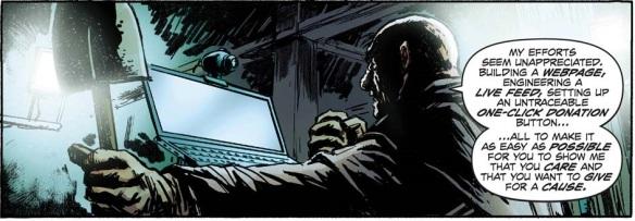 Sans doute le premier criminel de l'histoire de la bande dessinée à utiliser le crowdfunding pour parvenir à ses fins